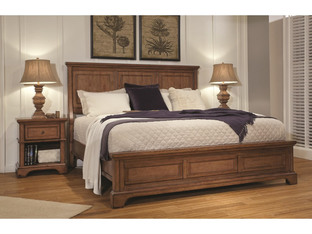 Aspenhome Alder CreekQueen Panel Bed