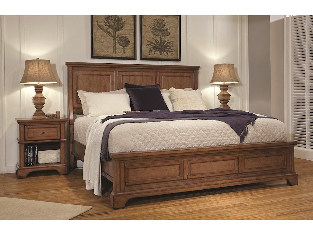 Aspenhome Alder CreekQueen Panel Bed