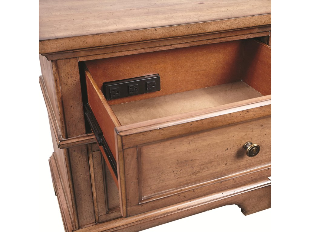 Top Drawer Contains an Outlet