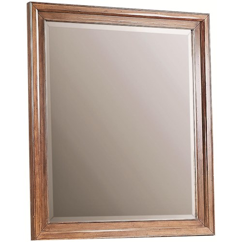 Aspenhome Alder Creek Rectangular Mirror with Beveled Edges