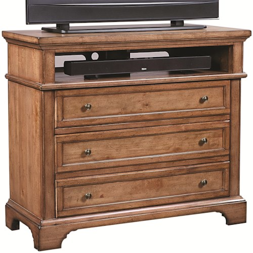 Aspenhome Alder Creek Liv360 Entertainment Chest with 3 Drawers