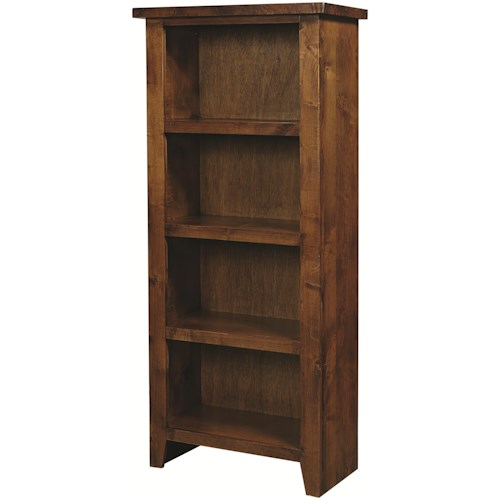 Aspenhome Alder Grove 4 Shelf Pier Bookcase