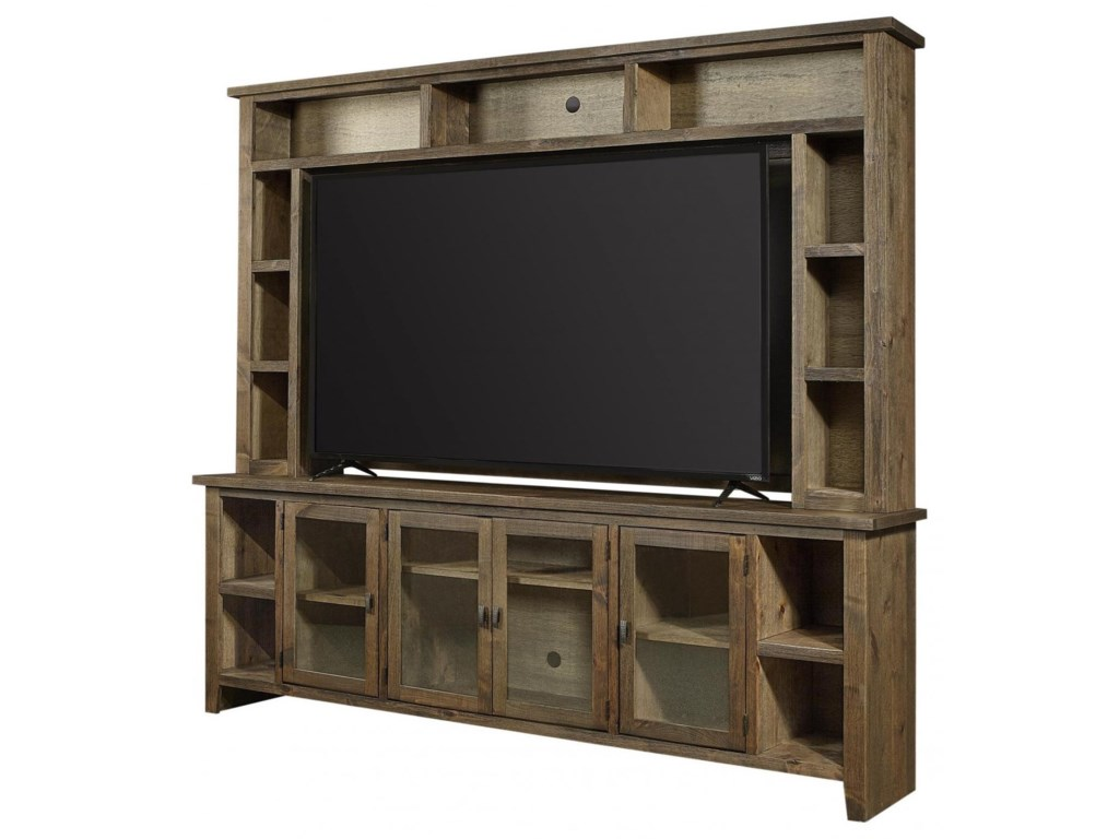 Aspenhome Alder GroveTV Stand with Hutch