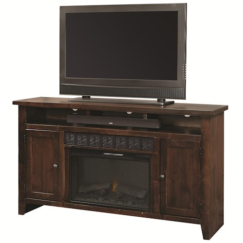 Aspenhome Alder Grove 2 Door Entertainment Console with Fireplace