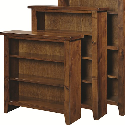 Aspenhome Alder Grove Open Bookcase with 3 Adjustable Shelves