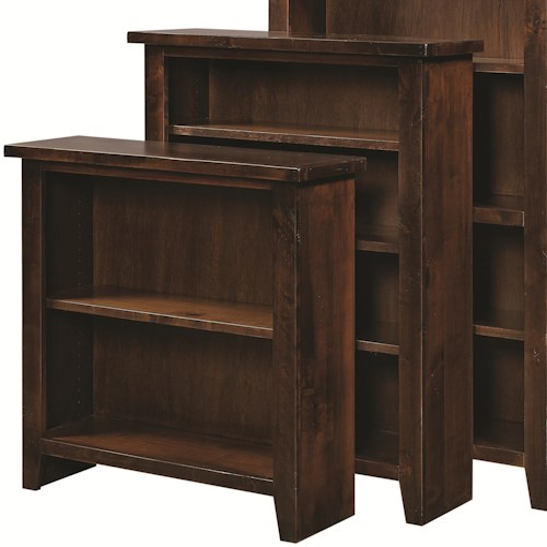 Aspenhome Alder Grove Open Bookcase with 3 Adjustable Shelves