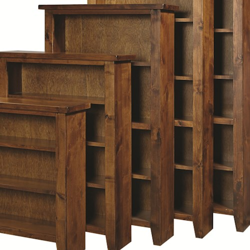 Aspenhome Warm Cherry Executive Modular Home Office: Aspenhome Alder Grove Open Bookcase With Fixed And