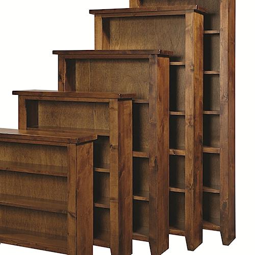 Aspenhome Alder Grove Open Bookcase with 4 Shelves
