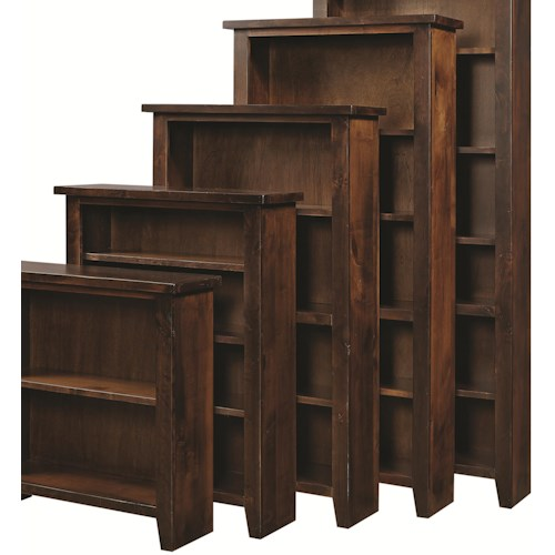 Aspenhome Alder Grove Open Bookcase with 4 Shelves