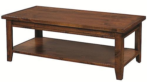 Aspenhome Alder Grove Rectangular Cocktail Table with Shelf