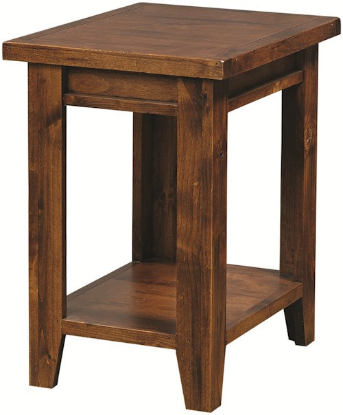 Aspenhome Alder Grove Chairside Table with Shelf