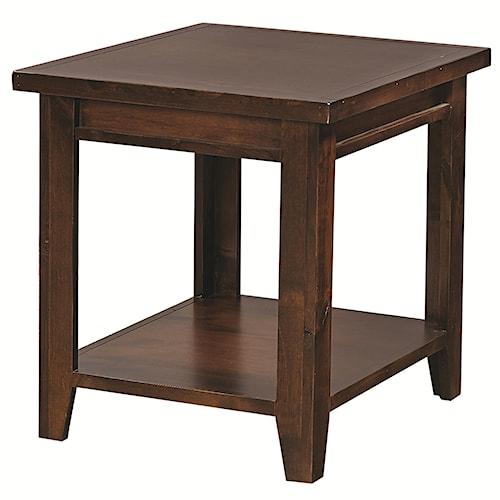 Aspenhome Alder Grove Rectangular End Table with Shelf