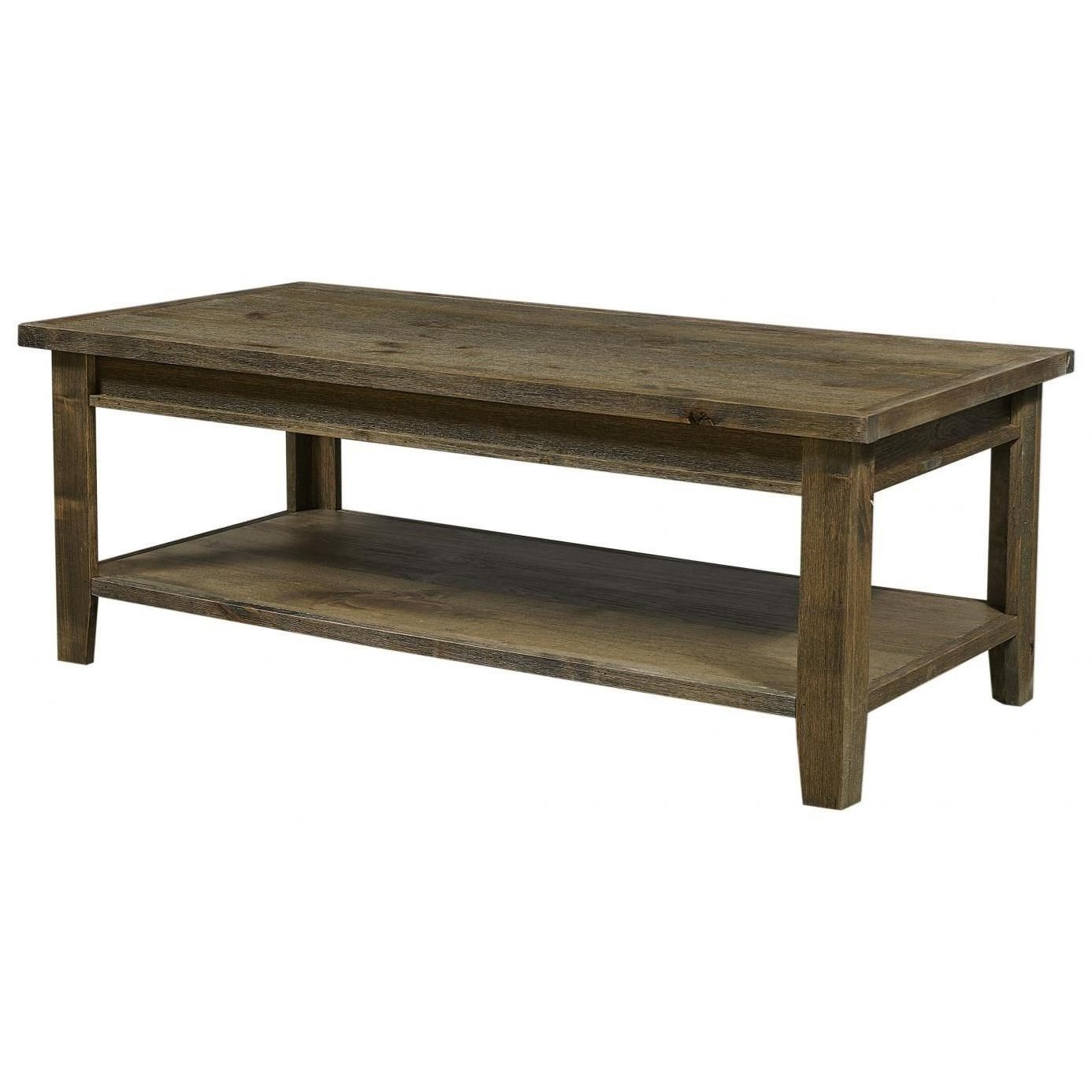 Rectangular Cocktail Table with Shelf