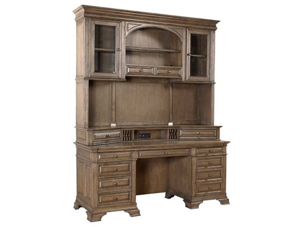 Aspenhome Arcadia 72 Credenza And Hutch With Led Touch Lighting