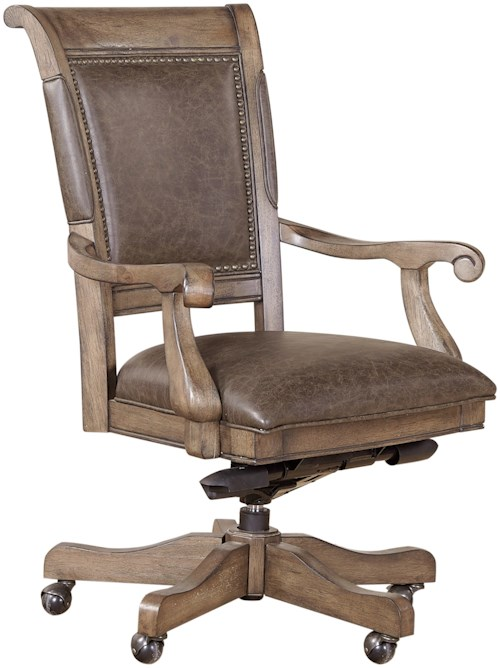 Aspenhome Arcadia Office Arm Chair with Upholstered Seat