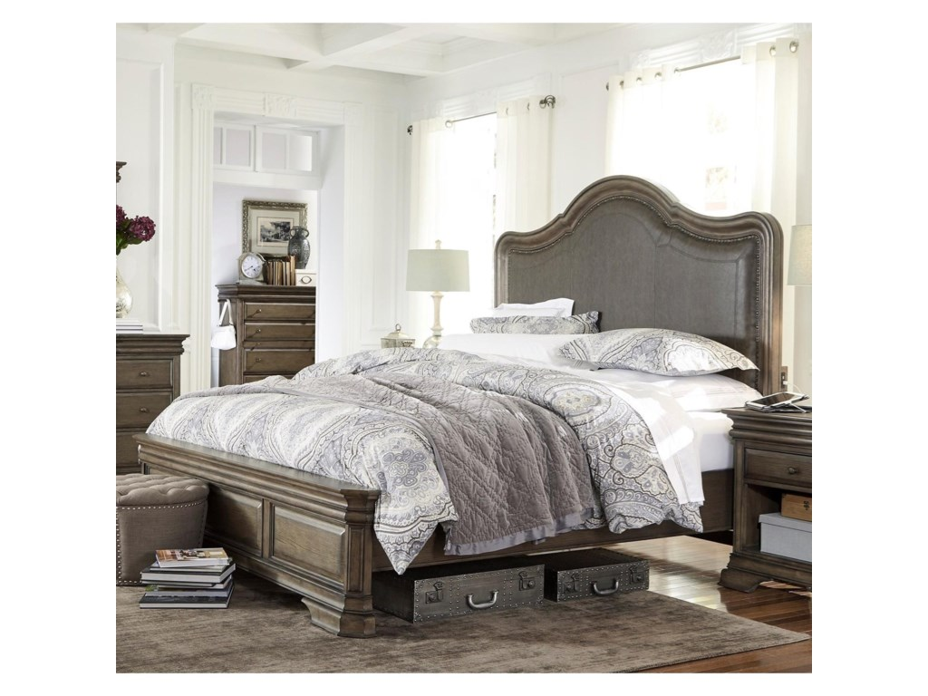 Highland Court ArcadiaQueen Upholstered Low Profile Bed