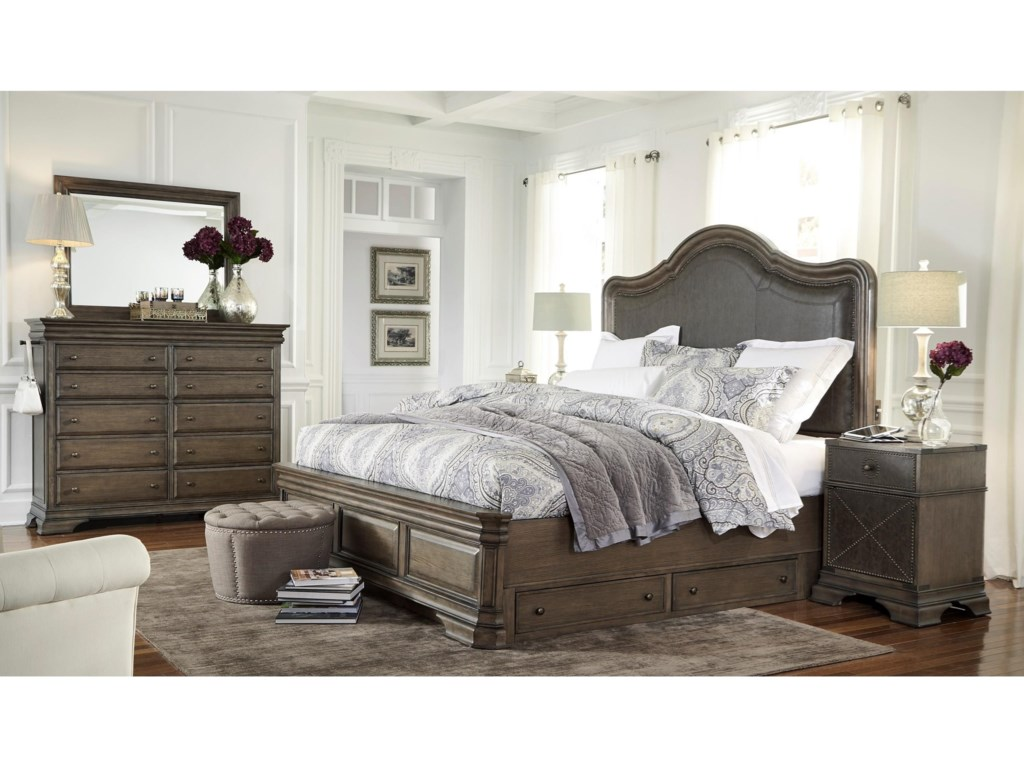 Aspenhome ArcadiaCalifornia King Upholstered Storage Bed