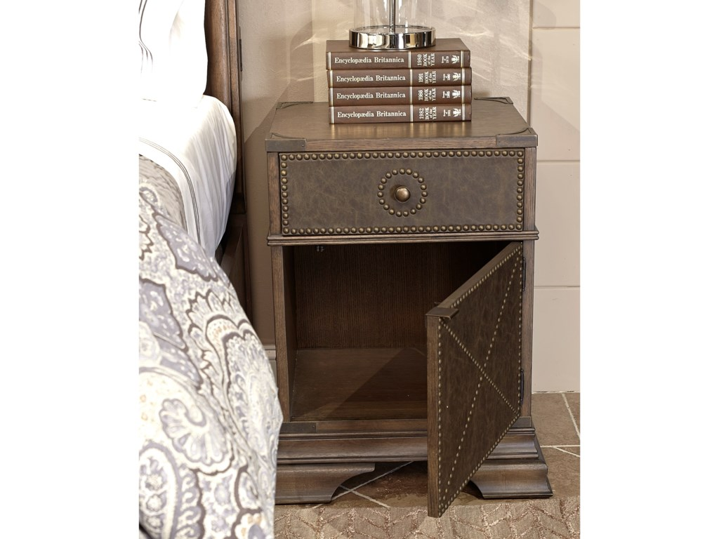Aspenhome ArcadiaLeather Accent Night Stand