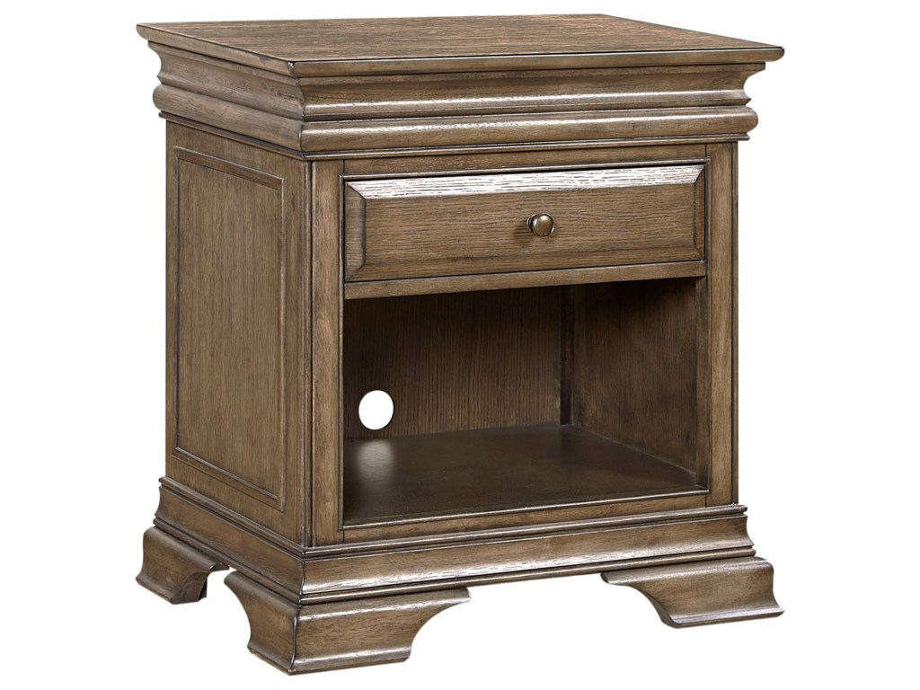 Aspenhome Arcadia 1 Drawer Nightstand Conlins Furniture Night - The-elegance-of-the-arcadia
