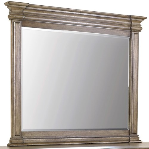Aspenhome Arcadia Dresser Mirror with Wood Frame