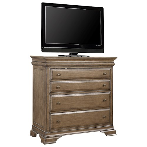 Aspenhome Arcadia Media Chest with Outlets