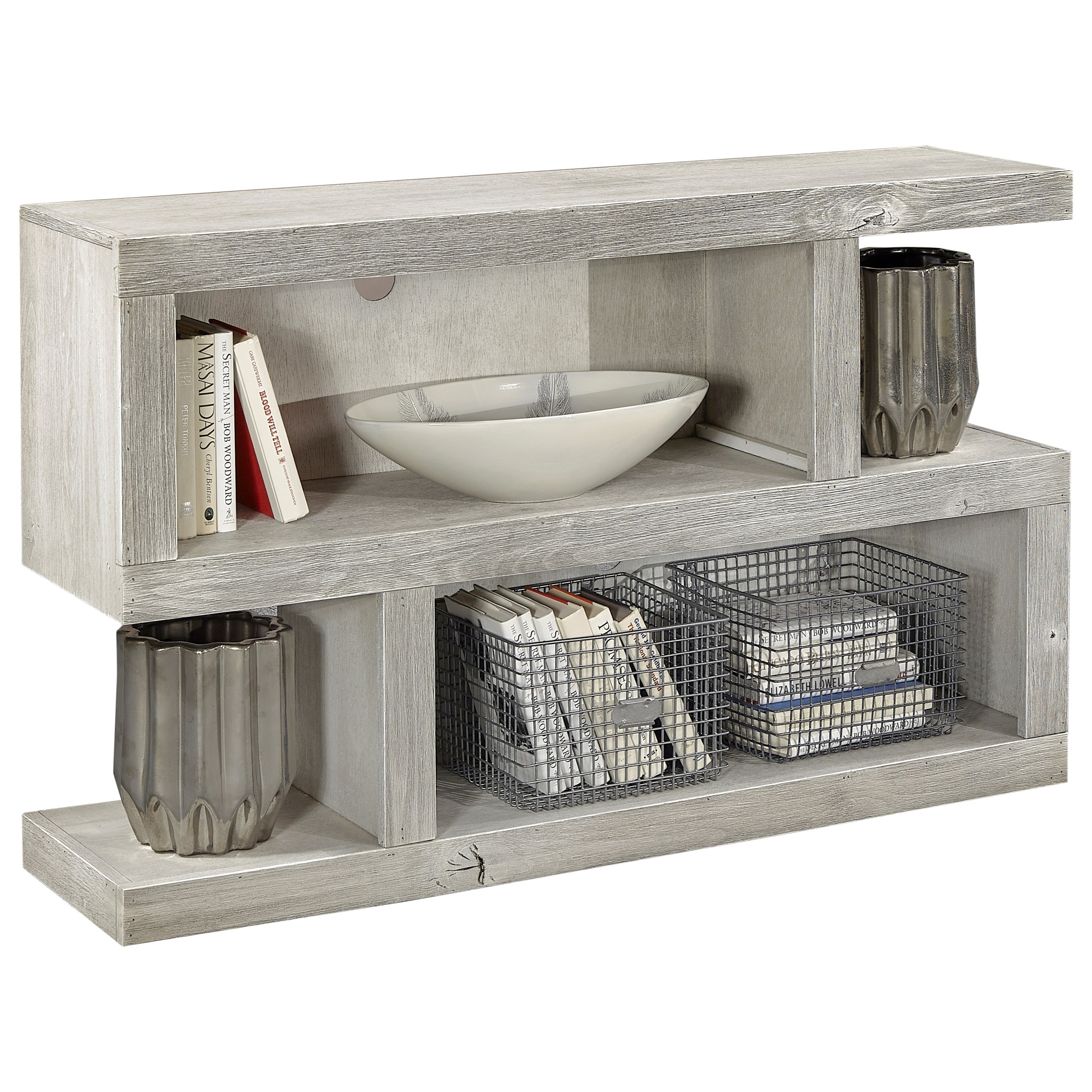 Contemporary Sofa Table with Extra Shelf Space