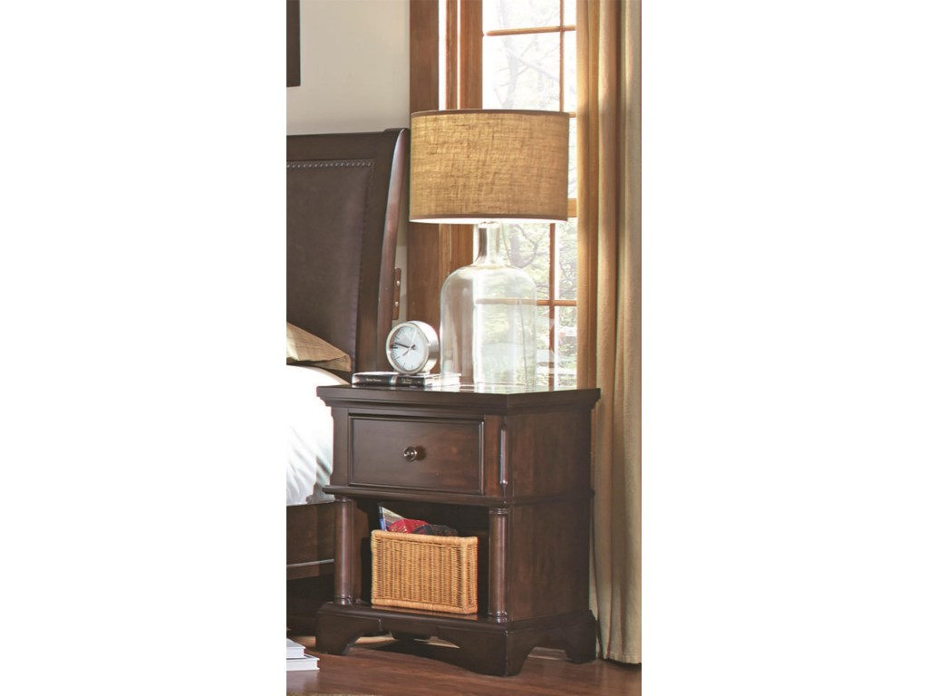Aspenhome Bancroft1 Drawer Nightstand