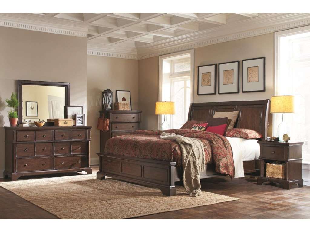 Aspenhome BancroftKing Sleigh Bed
