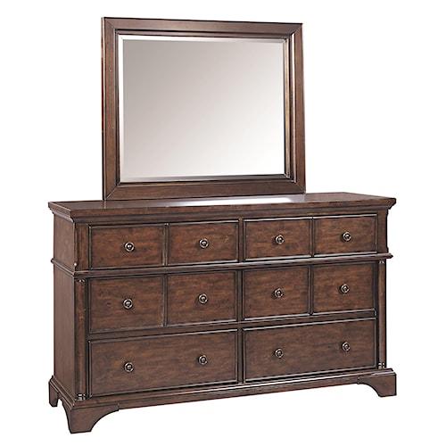 Aspenhome Bancroft Dresser and Landscape Mirror
