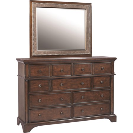 Chesser with Bonded Leather Mirror