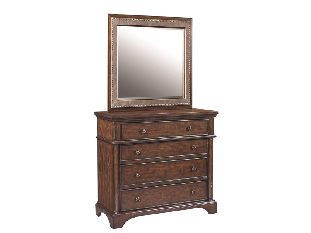 Aspenhome BancroftLiv360 Entertainment Chest and Mirror