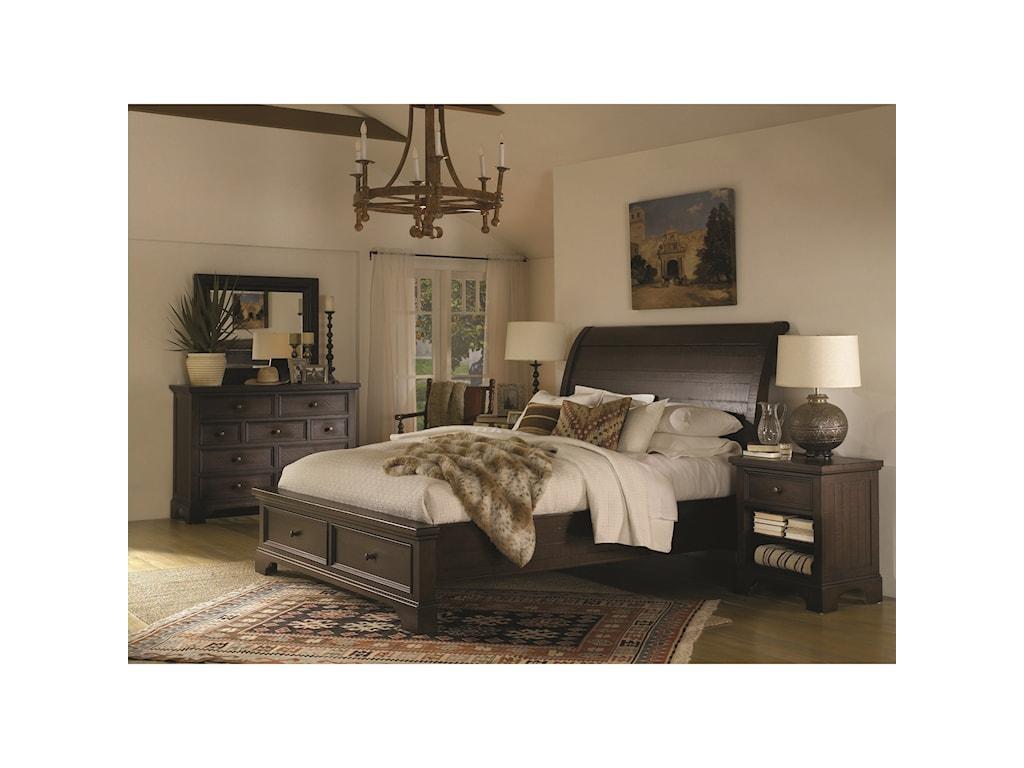Aspenhome BayfieldQueen Sleigh Storage Bed