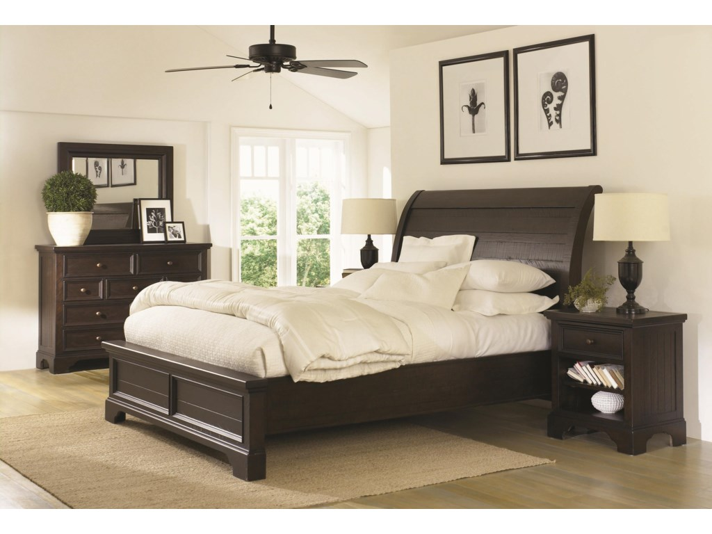 Aspenhome BayfieldCalifornia King Sleigh Bed