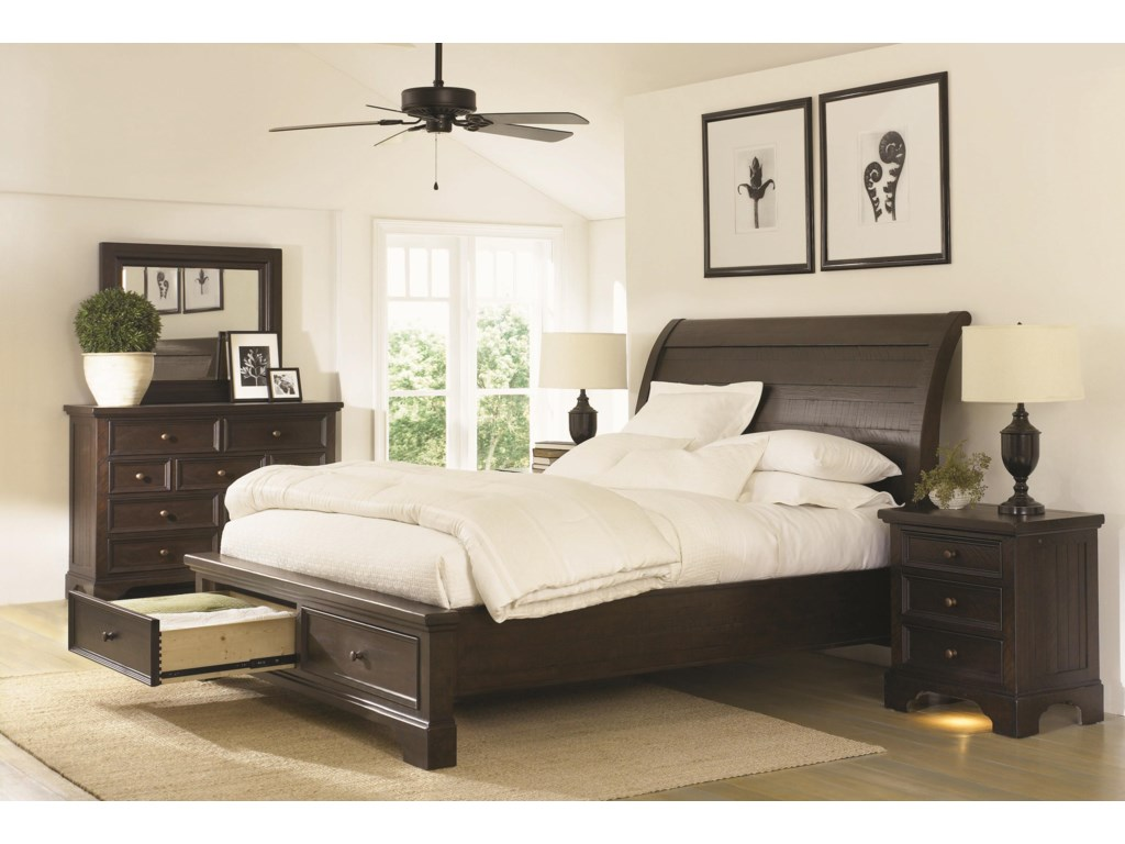 Shown with Mirror, Storage Bed and Liv360 Nightstand