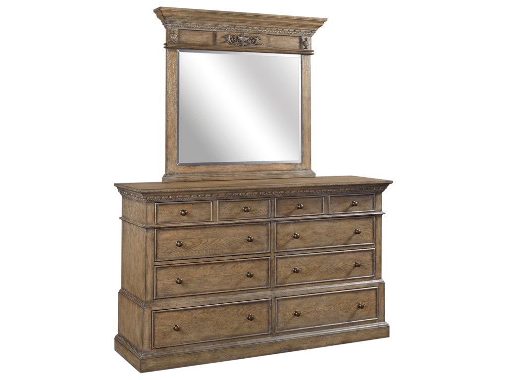 Highland Court Belle MaisonDresser and Mirror Set