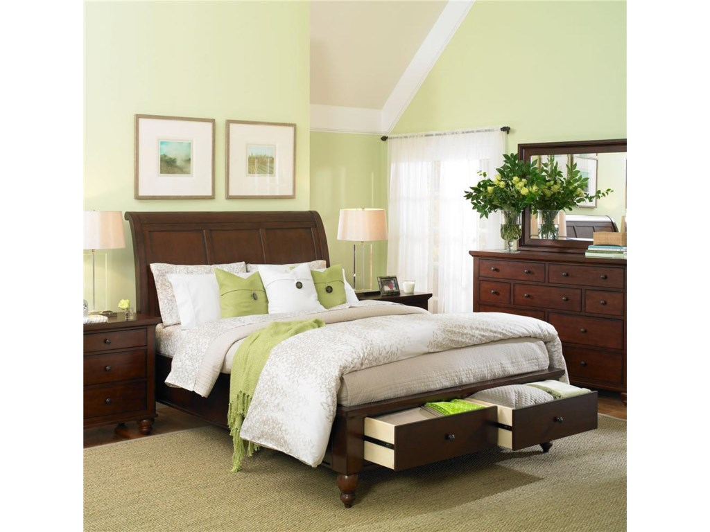 Aspenhome AlistorKing Storage Sleigh Bed
