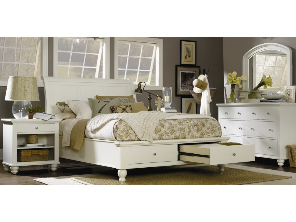 Aspenhome CambridgeCalifornia King Storage Sleigh Bed