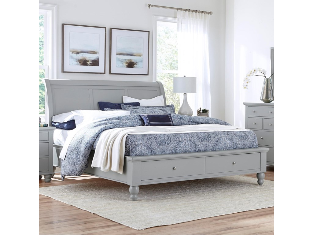 Aspenhome CambridgeQueen Sleigh Bed With Storage Drawers