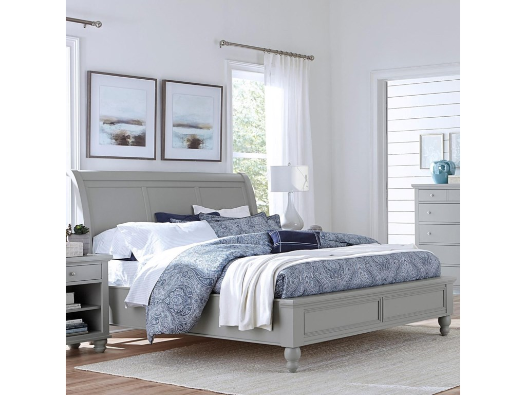 Aspenhome CambridgeCal King Sleigh Bed