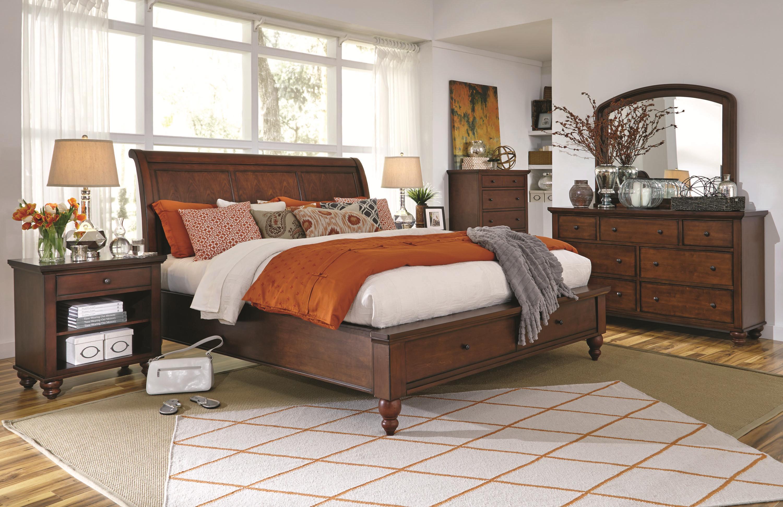 Incroyable Aspenhome Cambridge King Size Bed With Sleigh Headboard U0026 Drawer Storage  Footboard | Walkeru0027s Furniture | Sleigh Beds Spokane, Kennewick,  Tri Cities, ...