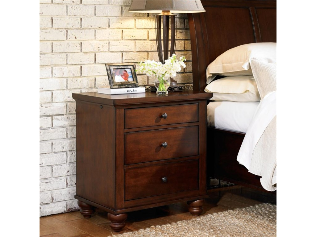Aspenhome Cambridge3 Drawer Liv360 Nightstand