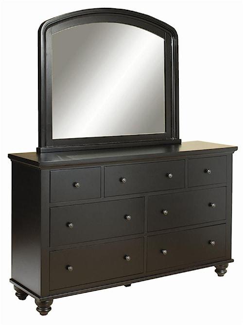 Aspenhome Cambridge 7-Drawer Double Dresser & Mirror Combo