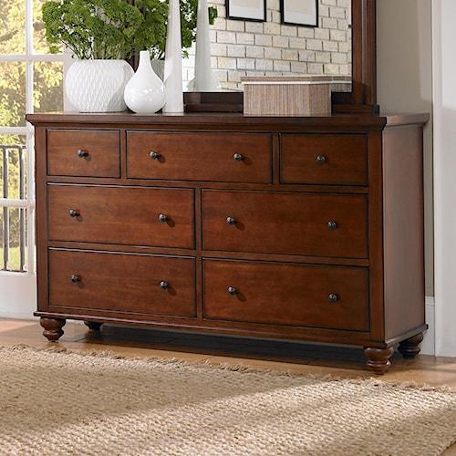 Aspenhome cambridge 7 drawer double dresser walker 39 s for Furniture wenatchee