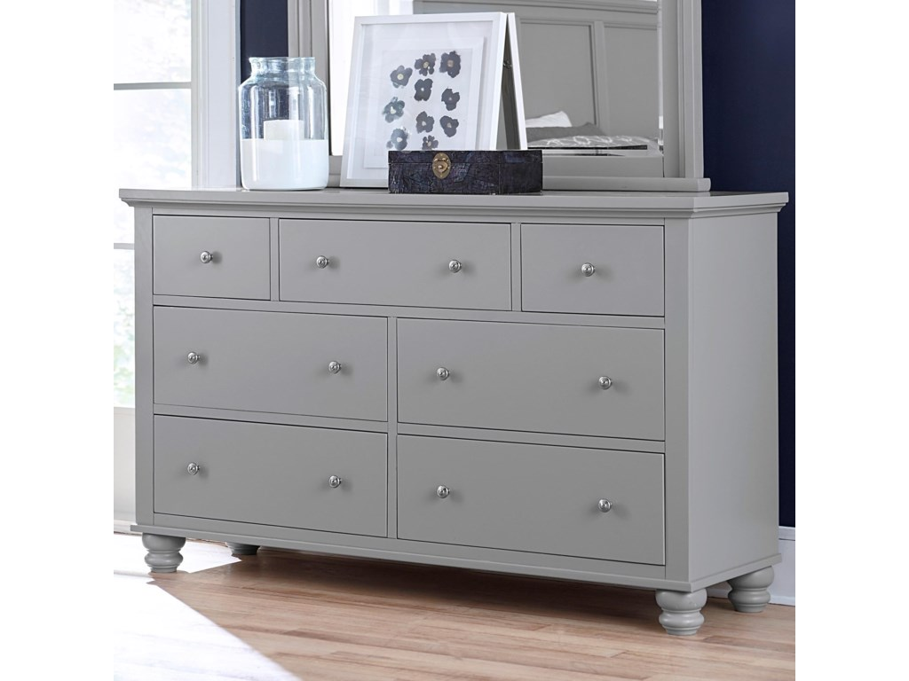 Aspenhome Cambridge7 Drawer Double Dresser