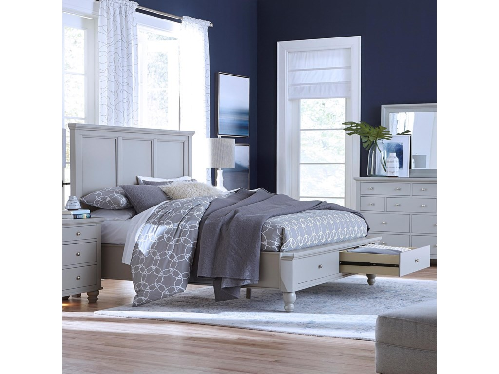 Aspenhome CambridgeKing Panel Bed