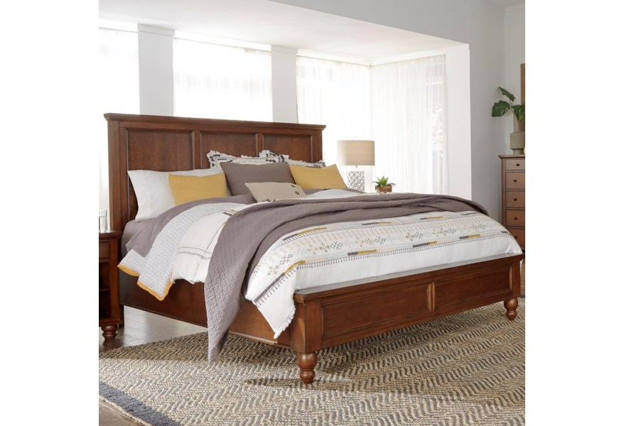 Aspenhome Cambridge King Panel Bed With Usb Ports Walker S Furniture Panel Beds