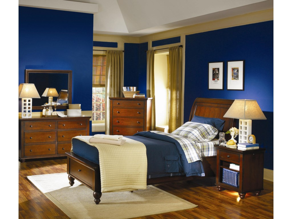 Shown with Dresser, Mirror, and Night Stand - Bed Shown May Not Represent Size Indicated