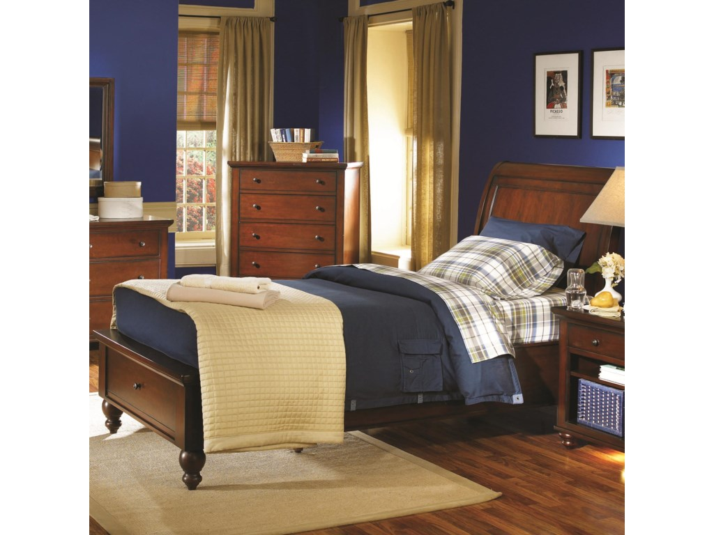 Aspenhome CambridgeFull Storage Sleigh Bed