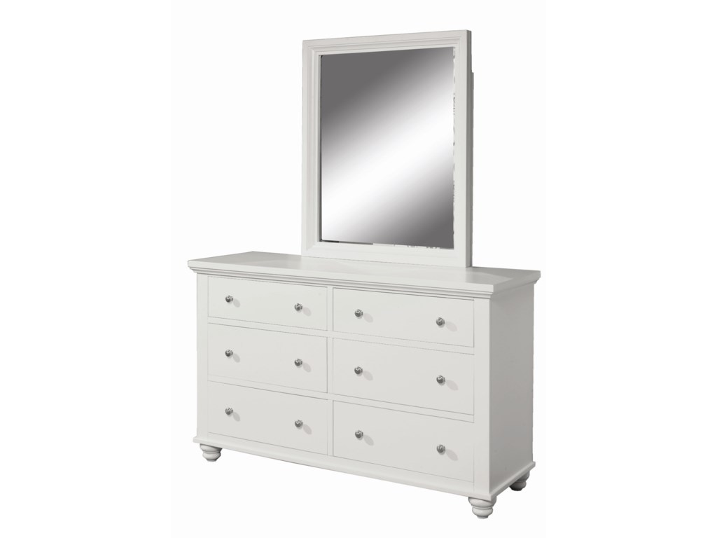 Aspenhome CambridgeDresser and Mirror Combo