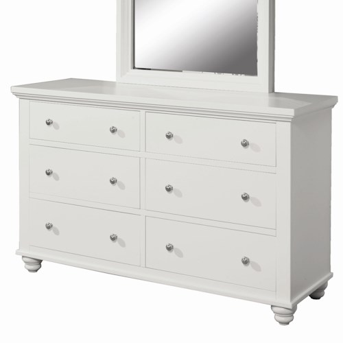 Aspenhome Cambridge Dresser with 6 Drawers